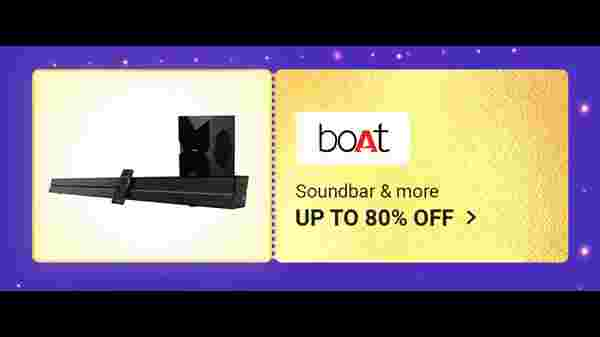 Up To 80% Off On Boat Soundbars and Headphones